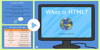 What is HTML PowerPoint - ICT, IT, HTML, powerpoint, information