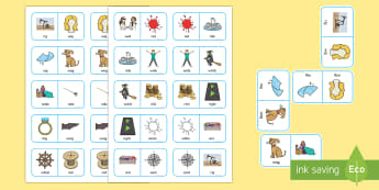 'r' and 'w' Minimal Pair Dominoes - liquids, gliding, speech sounds, phonology, articulation, dyspraxia, minimal pairs