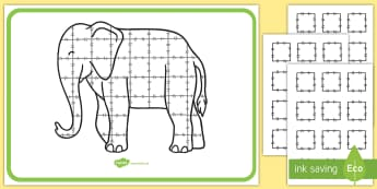 Patchwork Elephant Large Display Poster - Elmer, David McKee, colour, patchwork, pattern, squares.