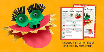 Paper Plate Dragon Craft Instructions - craft, paper plate, paper, plat, dragon, instructions