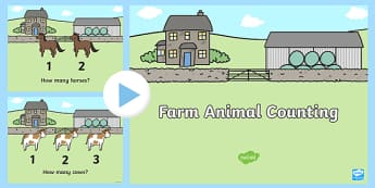 Farm Animals 1-10 Counting PowerPoint - on the farm, on the farm powerpoint, farm counting powerpoint, counting powerpoint, on the farm counting powerpoint