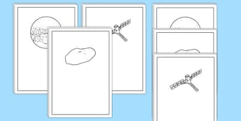 Mars Writing Frames - Mars, space, planets, writing, literacy, lined, paper, page, frame, worksheet