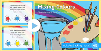 Colour Mixing Colours Song PowerPoint