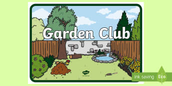 Garden Club Signs - Nature Garden Sign - signs, labels, plants, trees, flowers  , lebels, labeles, plnts, garden, club,