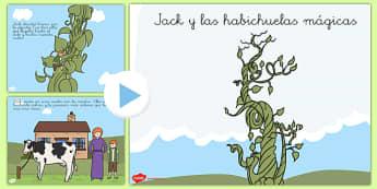 Presentación de Jack y las habichuelas mágicas - cuentos tradicionales, cuentos de hada, escuchar, historia, crecer, plantas