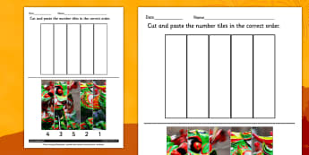 Chinese New Year Photo Number Sequencing Puzzle - Activities