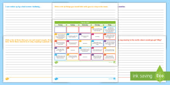 March 2018 Writing Prompts Display Calendar - literacy, starter, sentences, year, activity, independent, warm-up