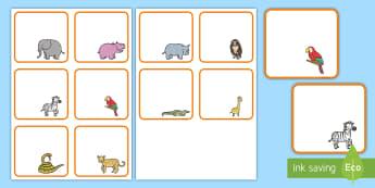 Etiquetas de perchero: La jungla - La jungla, trans-curricular, animales, salvajes, mono, elefante, hipopótamo, guepardo, cocodrilo, c