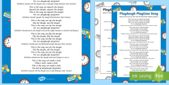 Playdough Playtime Song - Playdough Play, dough disco, finger gym, fine motor skills, physical development.