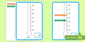 Australia Comparing Temperature Thermometer Display Poster - Thermometer Temperature Display Poster - heat, classroom display, thermometre, themometer, thermomet