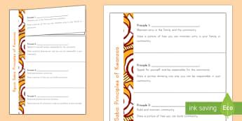 Principles of Kwanzaa Flapbook - Kwanzaa, seven principles of kwanzaa, African American, African culture