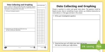 Year 2 Collecting and Graphing Data Activity Sheet - Australian Curriculum Statistics and Probability,  Year 2, data representation and interpretation, A