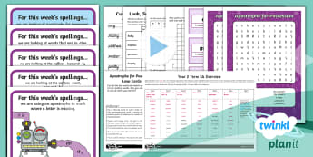 Y2 Term 3A Bumper Spelling Pack - Spellings Year 2, spell, spelling scheme