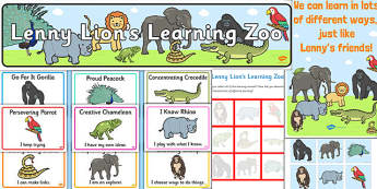 Ready Made Animal Themed Characteristics of Effective Learning Display Pack