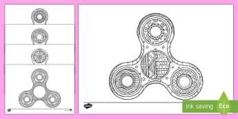 Fidget Spinner Fogli da colorare - colora, colorare, fidget, spinner, relax, rilassarsi, attivtà, classe, italiano, italian, materiale