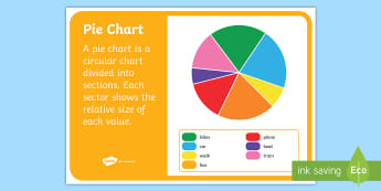 Pie Chart Display Poster - NZ Statistics (Back to School), pie charts, data handling