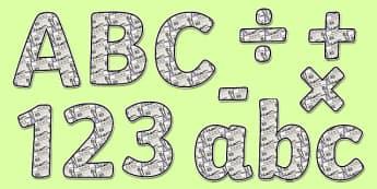 Newspaper Display Lettering - newspaper lettering, writing lettering, literacy lettering, newspaper alphabet, newspaper display, newspaper, writing