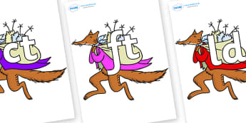 Final Letter Blends on Mr Fox to Support Teaching on Fantastic Mr Fox - Final Letters, final letter, letter blend, letter blends, consonant, consonants, digraph, trigraph, literacy, alphabet, letters, foundation stage literacy