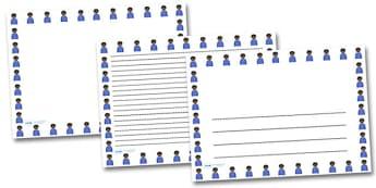 Irritated boy Landscape Page Borders- Landscape Page Borders - Page border, border, writing template, writing aid, writing frame, a4 border, template, templates, landscape
