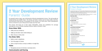 Parents' Guide to the 2 Year Development Review - Toddler, check up, review, development, health