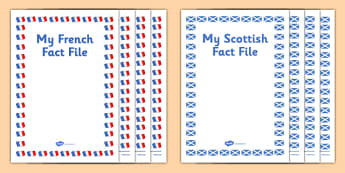My French Fact File Pack - french, fact file, pack, fact, file, scottish, cfe