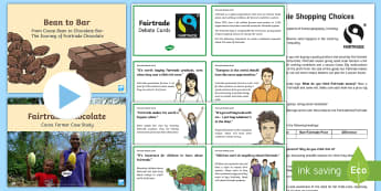 KS2 World Fairtrade Day Chocolate Activity Pack - UK World Fairtrade Day (13.5.17), fairtrade
