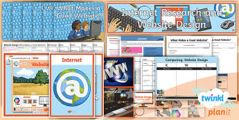 PlanIt - Computing Year 6 - Website Design Unit Pack - e-safety, research, website, webpages, images, www, internet