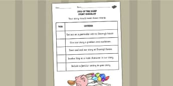Stig of the Dump Story Checklist - Stig, Dump, Story, Checklist