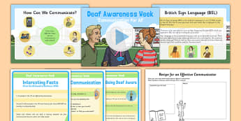 Deaf Awareness Week Resource Pack