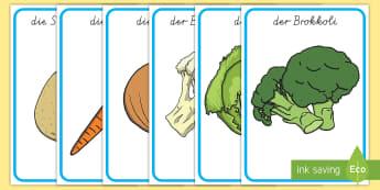 Gemüse Wortschatz: Poster - Gemüse, Gemüse essen, gesunde Ernährung, Gemüse Poster, Gemüse Klassenraumgestaltung,gesund ern
