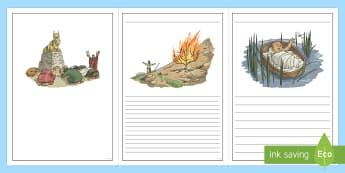 Exodus Story Writing Frames - exodus writing frames, bible stories, moses,