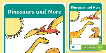 Dinosaurs and More Year 1 Biological Sciences Editable Book Cover - Australian Curriculum, Biological science, title page, book cover, science display, science colourin
