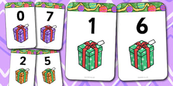Number Bonds to 7 Matching Cards (Presents) - Number Bonds, presents, present, Matching Cards, Number Bonds to seven, counting, number recognition, christmas, xmas