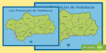 Póster DIN A2: Las comarcas de Andalucia Póster DIN A2 - Mapas, provinicias, mapas mudos, mapas en blanco, las ciudades de españa, comarcas, concejos, comun