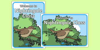 Welcome to Nightingale Class Display Posters - welcome, nightingale class, display poster