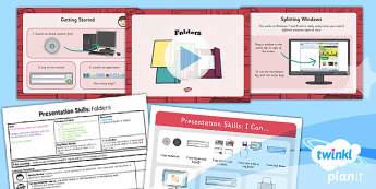 PlanIt Computing Year 2 Presentation Skills Lesson 1 Folders Pack