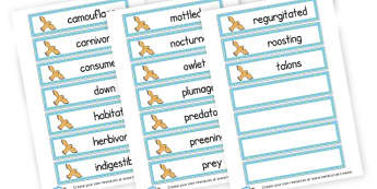 Owl Word Cards - Owl Babies Literacy Primary Resources -  Primary Resources, story