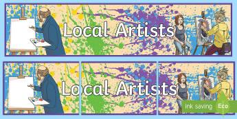 Local Artists Display Banner - Northern Ireland Artists, Northern Ireland, Neil Shawcross, artists, drawings, design, art and desig