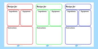 Recipe Plain Template - recipes, templates, food, cooking, cook