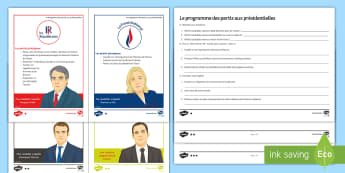 French Presidential Elections Differentiated Reading Comprehension Activity French - KS4, French, Presidential, Elections, présidentielles, reading, higher, foundation, GCSE, different