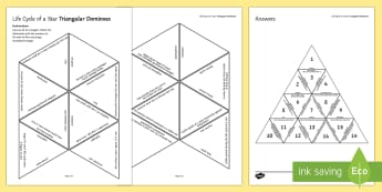 Life Cycle of a Star Tarsia Triangular Dominoes - Tarsia, gcse, physics, space science, space, star, stars, life cycle of a star, star life cycle, typ