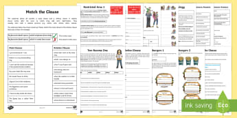 Year 5 and 6: Relative Clauses and Relative Pronouns Activity Booklet - English, grammar, writing, clauses, pronouns, relative clauses, relative pronouns
