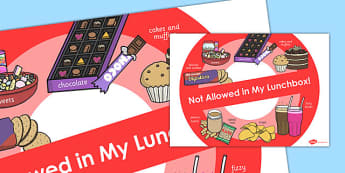 Not Allowed in Lunchboxes Poster - lunchboxes, poster, allowed