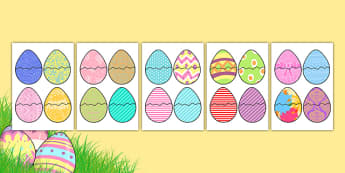 Easter Egg Pattern Matching Activity - matching activity, matching, easter eggs, pattern matching, match the eggs, easter matching activity, easter activity, activity, snap