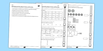 Year 2 Maths Assessment Number and Place Value Term 2 - Maths, Assessment, Number, Place Value