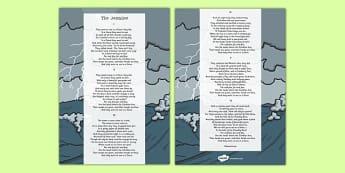 The Jumblies Edward Lear Poem Print Out -poetry, literature, key stage 2, KS2, English, Key Stage 3, KS3