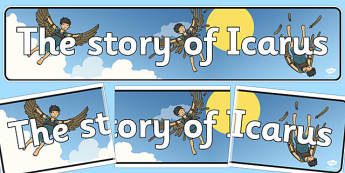 Icarus Display Banner - icarus, display, banner, greek, myth
