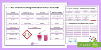 OCR 21st Century Chemical Analysis Word Mat  - Word Mat, gcse, chemistry, separation, mixture, pure, impure, separation method, separation techniqu