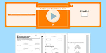 KS2 Reasoning Test Practice Numbers up to Three Decimal Places Pack - Key Stage 2, Reasoning Test, Practice, Fractions, Decimals, Percentages, Year 6