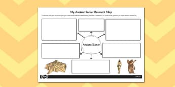 Ancient Sumer Themed Research Map - research map, research, map